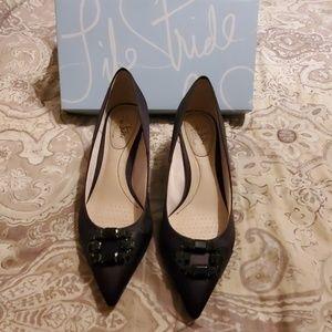 Posh Satin Pumps/Heels, Size 10M